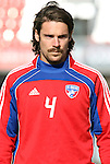 19 November 2010: Heath Pearce. FC Dallas held a practice at Toronto, Ontario, Canada as part of their preparations for MLS Cup 2010, Major League Soccer's championship game.