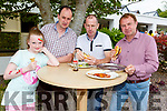 Enjoying the Dairymaster 50th Anniversary BBQ in the Ballygarry Hotel on Sunday.  <br /> L-r, James and Katelyn Hussey, Brendan O'Connor and Pat Enright.