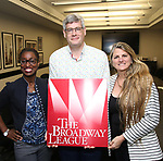 Martine Sainvil, Austin Shaw and Bonnie Comley with Central Academy of Drama: Professors Visiting Broadway League on September 25, 2017 at the Broadway League in New York City.