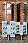 Savannah, GA. Electricity meters.