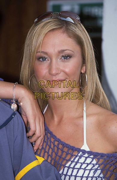 ATOMIC KITTEN - JENNY FROST.Ref: 10994.sunglasses, shades, silver hoop earrings, headshot, portrait.www.capitalpictures.com.sales@capitalpictures.com.©Capital Pictures.