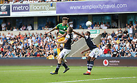 Preston North End's Sean Maguire with a header towards goal<br /> <br /> Photographer Rob Newell/CameraSport<br /> <br /> The EFL Sky Bet Championship - Millwall v Preston North End - Saturday 3rd August 2019 - The Den - London<br /> <br /> World Copyright © 2019 CameraSport. All rights reserved. 43 Linden Ave. Countesthorpe. Leicester. England. LE8 5PG - Tel: +44 (0) 116 277 4147 - admin@camerasport.com - www.camerasport.com