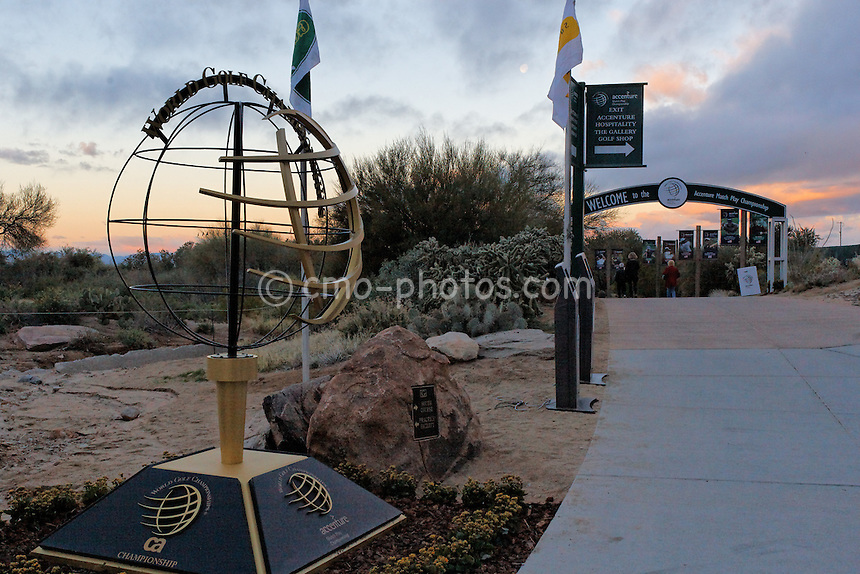 Feb 23, 2008; Marana, AZ, USA; Sunrise at Dove Mountain on Saturday morning of the Accenture Match Play Championship at the Gallery Golf Club.