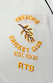 Cricket - Persimmons Village Cup - Quarter Final between 1985 winners Freuchie and last years winners Sessay CC (from Yorkshire) - played at Freuchie Public Park - Freuchie logo - Picture by Donald MacLeod - 24.07.11 - 07702 319 738 - www.donald-macleod.com