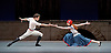 The Flames of Paris <br /> Bolshoi Ballet <br /> at The Royal Opera House, Covent Garden, London, Great Britain <br /> 5th August 2016 <br /> rehearsals<br /> <br /> Ekaterina Krysanova as Jeanne<br /> <br /> Igor Tsvirko as The Marquis Costa de Beauregard <br /> <br /> <br /> <br /> Photograph by Elliott Franks <br /> Image licensed to Elliott Franks Photography Services