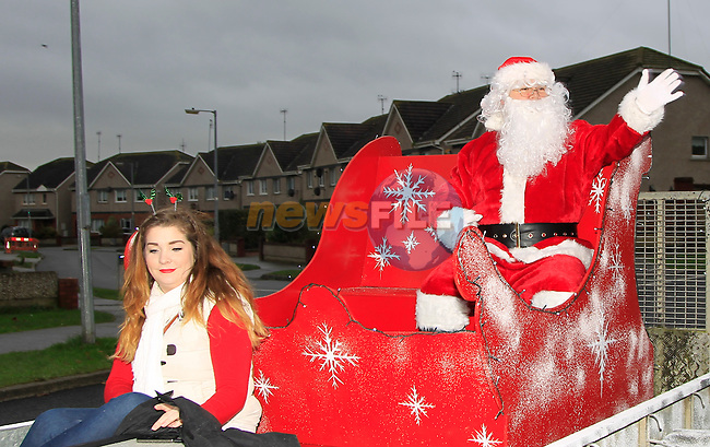 during the Santa arrival at Termon Abbey &amp; Aston Village on Saturday 6th December 2014.<br /> Picture:  Thos Caffrey / www.newsfile.ie