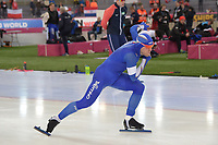SPEEDSKATING: HAMAR: Vikingskipet, 28-02-2020, ISU World Speed Skating Championships, Sprint, 500m Men, David Bosa (ITA), ©photo Martin de Jong