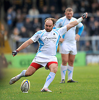 High Wycombe, England. Andy Goode of Worcester Warriors in action during the Aviva Premiership match between London Wasps and Worcester Warriors at Adam Park on October 7, 2012 in High Wycombe, England.