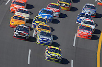 Apr 29, 2007; Talladega, AL, USA; Nascar Nextel Cup Series driver Casey Mears (25) leads the field during the Aarons 499 at Talladega Superspeedway. Mandatory Credit: Mark J. Rebilas