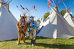 Members of the Puyallup Tribe in The Indian Village at the Pendleton Round Up Rodeo, Pendleton OR, USA