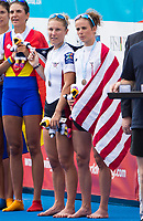 Sarasota. Florida USA.  USA LW2X.Bow. Emily SCHMIEG and Michelle SECHSER.  Final A. 2017 World Rowing Championships, Nathan Benderson Park<br /> <br /> Saturday  30.09.17   <br /> <br /> [Mandatory Credit. Peter SPURRIER/Intersport Images].<br /> <br /> <br /> NIKON CORPORATION -  NIKON D500  lens  VR 500mm f/4G IF-ED mm. 320 ISO 1/1600/sec. f 8