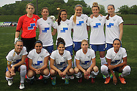 Piscataway, NJ, May 13, 2016. The Boston Breakers starting eleven. Sky Blue FC defeated the Boston Breakers, 1-0, in a National Women's Soccer League (NWSL) match at Yurcak Field.