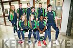 Athletics team at the International Children's Games Press Night at the Rose Hotel on Friday. Pictured front l-r Meath McElligott, Ciara McCarthy, Basit Oyebonji, Backl -r Derbhail Foley, Coach, Feral O'Brien, Cillian Griffin, Darragh Courtney, Harry EmersonSean Quilter,