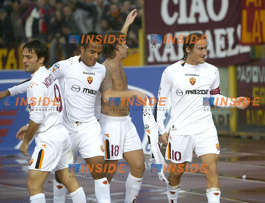 Bologna 23/11/2003 <br /> Bologna Roma 0-4 <br /> Antonio Cassano (Roma) festeggiato dopo  il gol del 4-0<br /> Foto Andrea Staccioli Insidefoto