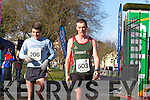 Richard O'Brien and Edward Casey at the Valentines 10 mile road race in Tralee on Saturday.