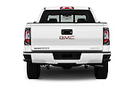 Straight rear view of 2016 GMC Sierra 1500 Denali 4WD Crew Cab Short Box Denali 4 Door Pick-up Rear View  stock images