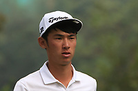 Micah Lauren Shin (USA) on the 7th tee during Round 4 of the UBS Hong Kong Open, at Hong Kong golf club, Fanling, Hong Kong. 26/11/2017<br /> Picture: Golffile | Thos Caffrey<br /> <br /> <br /> All photo usage must carry mandatory copyright credit     (&copy; Golffile | Thos Caffrey)