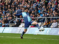 Joe Jacobson of Wycombe Wanderers during the Sky Bet League 2 match between Wycombe Wanderers and Mansfield Town at Adams Park, High Wycombe, England on the 14th April 2017. Photo by Liam McAvoy.