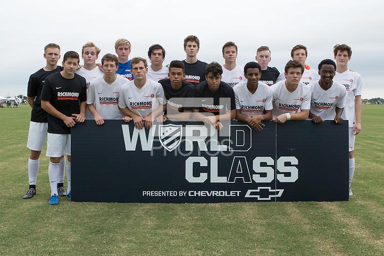 Lakewood Ranch, FL. - Thursday, December 3, 2015: U.S. Soccer Development Academy Winter Showcase and Nike International Friendlies at Premier Sports Campus.