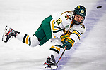 2 February 2020: University of Vermont Catamount Defender Ellice Murphy, a Sophomore from Roseau, MN, in third period action against the Holy Cross Crusaders at Gutterson Fieldhouse in Burlington, Vermont. The Lady Cats rallied in the 3rd period to tie the Crusaders 2-2 in NCAA Women's Hockey East play. Mandatory Credit: Ed Wolfstein Photo *** RAW (NEF) Image File Available ***