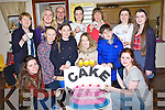 CAKE SALE: On Sunday morning Students as part of the 100 students trying to raise €100,00 for Temple Stree Children's hospital at St Mary's Brendan Parish Centre , Front l-r: Sinead Hill and Triona Clerkin. Centre l-r: Ava,Grace and Rachel O'Mahony and Ciarán Sears. Back l-r: Breda ,Laura and Larry Byrne,Ciara Hennessy, Debbie Clifford,Annie O'Dowd and Clodagh Byrne.