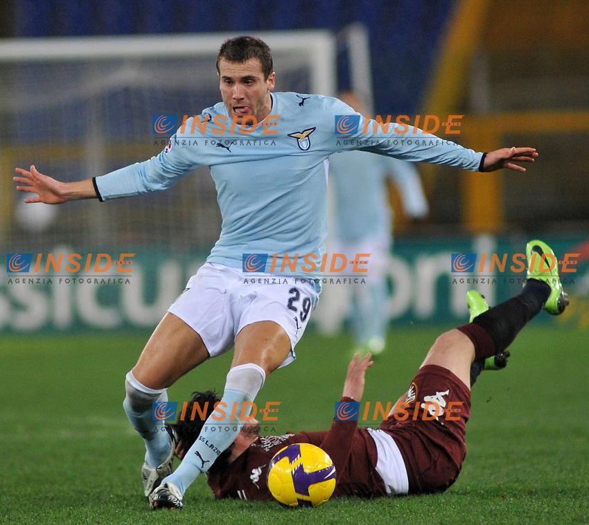 Lorenzo De Silvestri (Lazio) Blerim Dzemaili (Torino)<br /> Roma 22-01-2009<br /> Stadio Olimpico quarti di finale di coppa italia<br /> Lazio-Torino (3-1)<br /> Author Massimo Oliva/Inside
