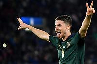 Jorginho celebrates after scoring the goal of 1-0 <br /> Roma 12-10-2019 Stadio Olimpico <br /> European Qualifiers Qualifying round Group J <br /> Italy - Greece <br /> Photo Andrea Staccioli/Insidefoto