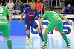 League LNFS 2017/2018 - Game 10.<br /> FC Barcelona Lassa vs CA Osasuna Magna: 3-3.<br /> Ferrao vs Victor.