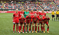 Portland, Oregon - Wednesday June 22, 2016: Thorns starting eleven during a regular season National Women's Soccer League (NWSL) match at Providence Park.