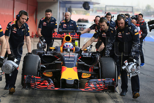 22.02.2016. Circuit de Catalunya, Barcelona, Spain. Spring F1 testing and new car unvieling for 2016-17 season.  Red Bull Racing RB12 - Daniel Ricciardo