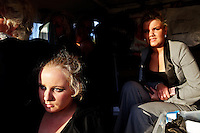 3/10/2010.  Traveller sisters are pictured at the Ballinasloe Horse Fair, Ballinasloe, County Galway, Ireland. Picture James Horan