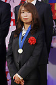 Homare Sawa (JPN), DECEMBER 27, 2011 - Football / Soccer : Homare Sawa of Japan attend Celebration party for FIFA Women's World Cup Champion at Tokyo Dome City in Tokyo, Japan. (Photo by Yusuke Nakanishi/AFLO SPORT) [1090]