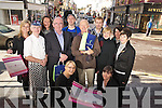 Celebrating Killarney second best town in Ireland for shopping were Niamh O'Brien, Eileen O'Riordan, Grainne O'Sullivan, Paddy O'Donoghue, Trish Lawlor, Mike O'Shea, Garry Berrigan, Johnny McGuire, Peter Dunlea, Olive O'Sullivan Darcy and Gillian Lynch Casey. ........