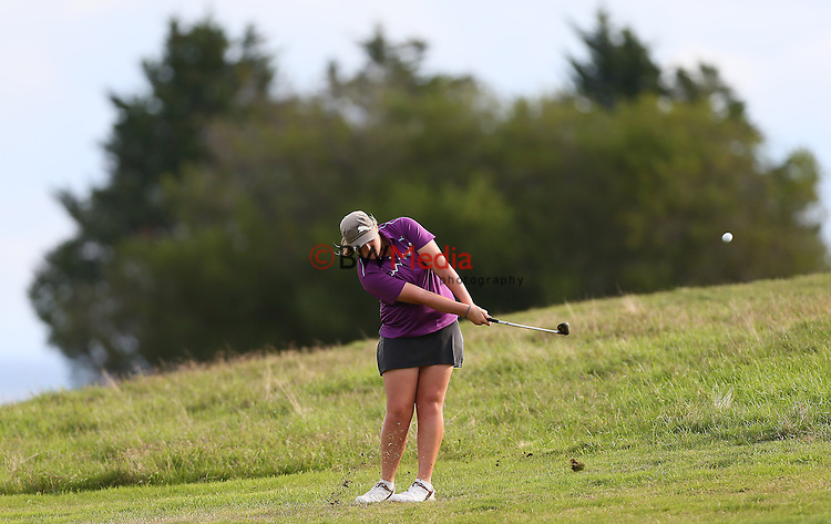 Ela Grimwood during day two, Round Two of the New Zealand Amatuer Championship, Nelson Golf Course, Nelson, New Zealand. Thursday 24 April 2014 Photo: Simon Watts/www.bwmedia.co.nz <br /> All images &copy; NZ Golf and BWMedia.co.nz