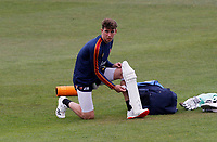 Daniel Lawrence of Essex prepares to warm up in the nets prior to Kent CCC vs Essex CCC, Friendly Match Cricket at The Spitfire Ground on 27th July 2020