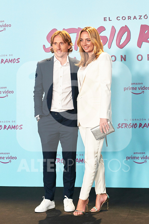 Luka Modric and Vanja Bosnic in the world preview of EL CORAZÓN DE SERGIO RAMOS, documentary series about the life of the captain of Real Madrid and the Spanish Soccer Team, at the Reina Sofía Museum on September 10, 2019 in Madrid, Spain.<br />  (ALTERPHOTOS/Yurena Paniagua)