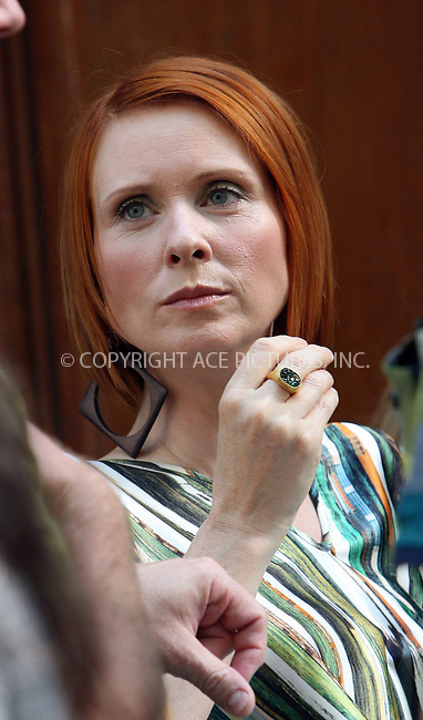 WWW.ACEPIXS.COM . . . . .  ....September 4 2009, New York City....Actress Cynthia Nixon on the set of the new 'Sex and the City' movie on September 4 2009 in New York city....Please byline: NANCY RIVERA- ACE PICTURES.... *** ***..Ace Pictures, Inc:  ..tel: (212) 243 8787 or (646) 769 0430..e-mail: info@acepixs.com..web: http://www.acepixs.com