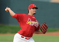 August 1, 2009: RHP Reynier Gonzalez (57) of the Johnson City Cardinals, rookie Appalachian League affiliate of the St. Louis Cardinals, in a game at Howard Johnson Field in Johnson City, Tenn. Photo by: Tom Priddy/Four Seam