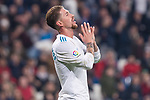 Real Madrid Sergio Ramos during King's Cup match between Real Madrid and Leganes at Santiago Bernabeu Stadium in Madrid, Spain. January 24, 2018. (ALTERPHOTOS/Borja B.Hojas)