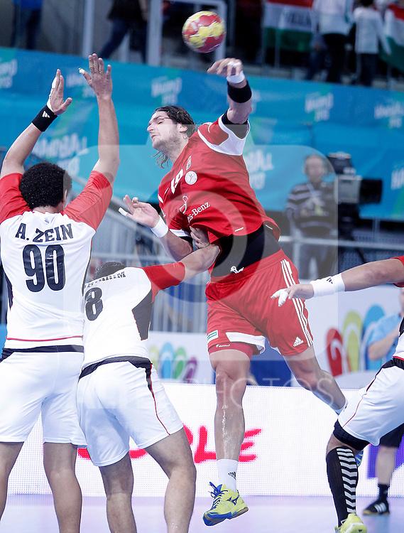 Hungary's Laszlo Nagy during 23rd Men's Handball World Championship preliminary round match.January 12 ,2013. (ALTERPHOTOS/Acero)