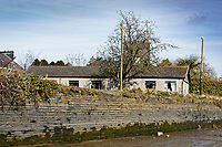 Pictured: Th ebusiness premises of the family where the Mini car with Kiara Moore entered river Teifi from in Cardigan, west Wales, UK. Tuesday 20 March 2018<br /> Re: The funeral of two year old Kiara Moore, who died after being recovered from a silver Mini car found in river Teifi in Cardigan will be held today (Tue 27 Mar 2018) at Parc Gwyn Crematorium, Narberth, west Wales.<br /> Kiara was taken at the University Hospital of Wales in Cardiff after being rescued but was pronounced dead.<br /> It is believed the car she was in, rolled down a slipway while her mother got out momentarily to get cash out of the family business premises.<br /> Her parents Jet Moore and Kim Rowlands have expressed their grief on social media.