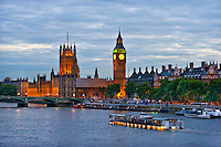 Big Ben and parliament houses, England.