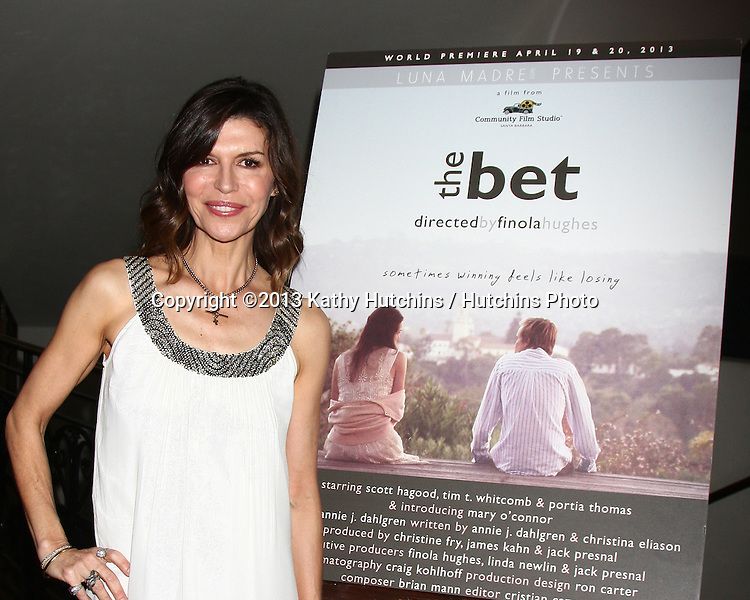 "LOS ANGELES - APR 4:  Finola Hughes attends the gala fundraiser for the romantic comedy, ""The Bet"" at the Bacara Resort on April 4, 2013 in Santa Barbara, CA"