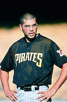 Jose Silva of the Pittsburgh Pirates before a 1999 Major League Baseball season game against the Los Angeles Dodgers in Los Angeles, California. (Larry Goren/Four Seam Images)