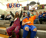 MARSHALL, MN - MARCH 17:  Sara Hermanson and Stephen Salazar cheer on the University of Texas Arlington Lady Movin' Mavs against Alabama during their championship game at the 2018 National Intercollegiate Wheelchair Basketball Tournament at Southwest Minnesota State University in Marshall, MN. (Photo by Dave Eggen/Inertia)