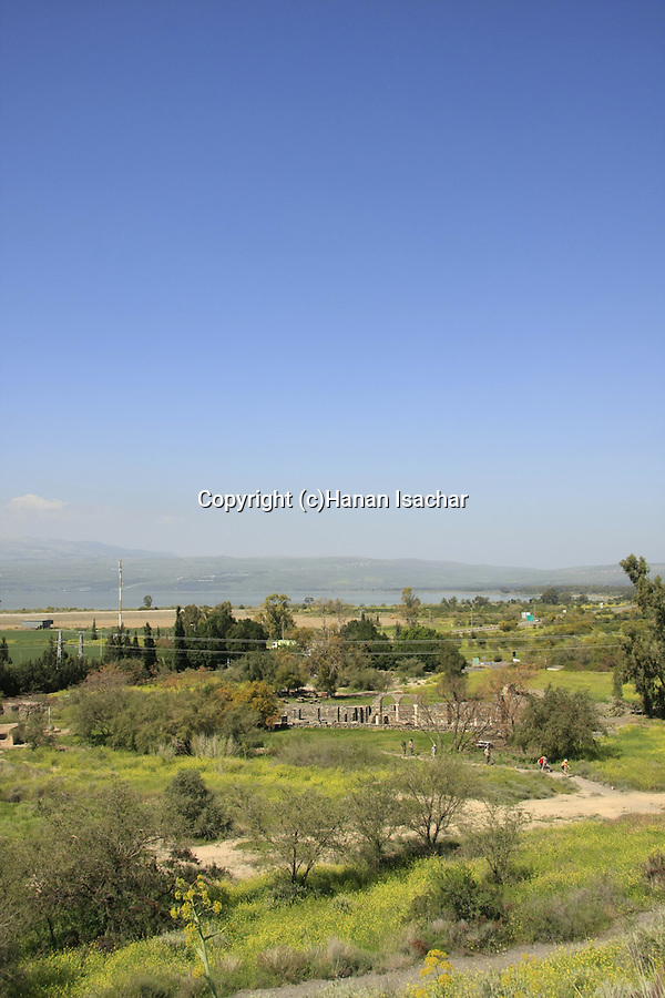 Kursi, by the Sea of Galilee. According to the New Testament, Jesus healed a man possessed by demons in Kursi