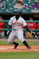 Indianapolis Indians second baseman Josh Harrison #7 during a game against the Louisville Bats on April 19, 2013 at Louisville Slugger Field in Louisville, Kentucky.  Indianapolis defeated Louisville 4-1.  (Mike Janes/Four Seam Images)