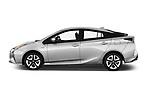 Car driver side profile view of a 2018 Toyota Prius lounge 5 Door Hatchback