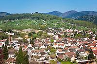 Germany, Baden-Wuerttemberg, Markgraefler Land, Kandern: overview | Deutschland, Baden-Wuerttemberg, markgraeflerland, Kandern: Uebersicht