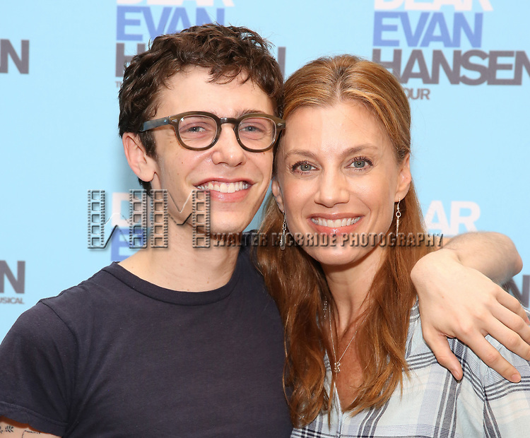 Ben Levi Ross and Jessica Phillips attends the National Tour Photo Call for 'Dear Evan Hansen' on September 6, 2018 at the New 42nd Street Studios in New York City.